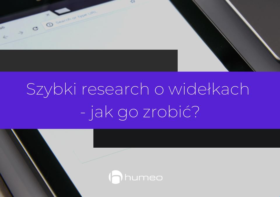 Szybki research - jak go zrobić?