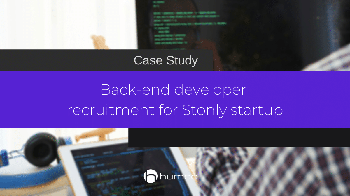 Back-end developer recruitment for startup