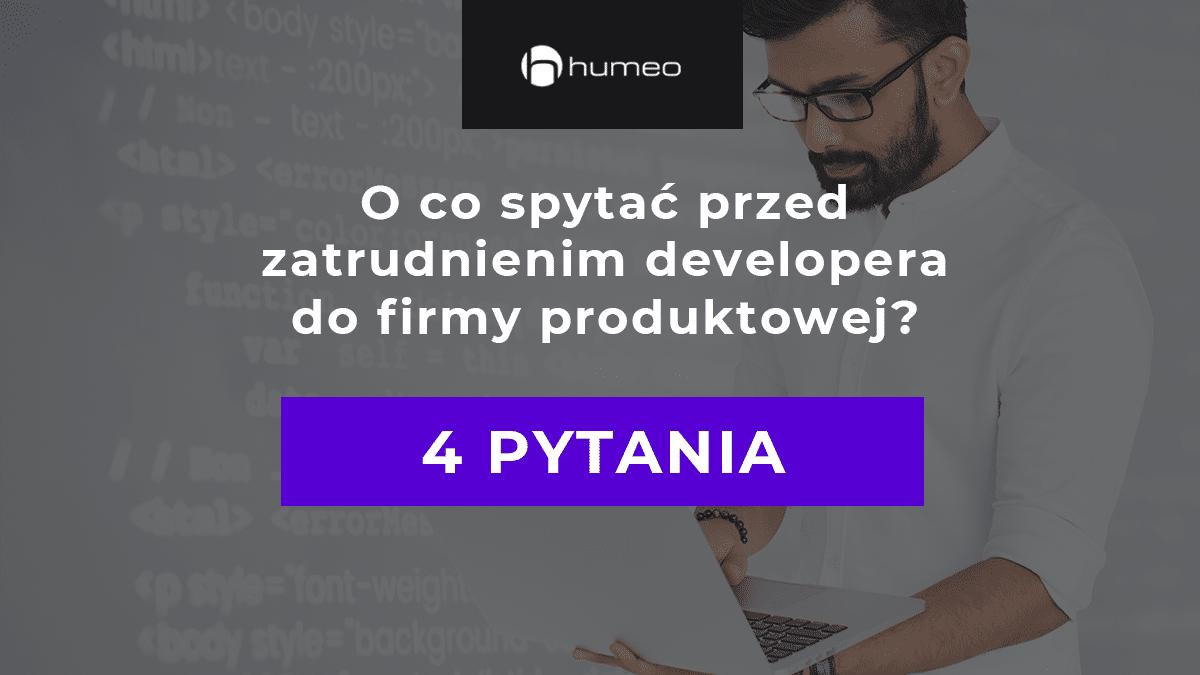 Developer w firmie produktowej