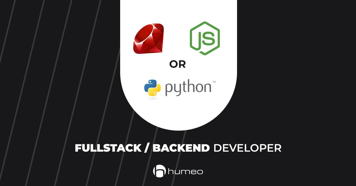 Fullstack Backend Developer (upside) oferty pracy IT - Humeo