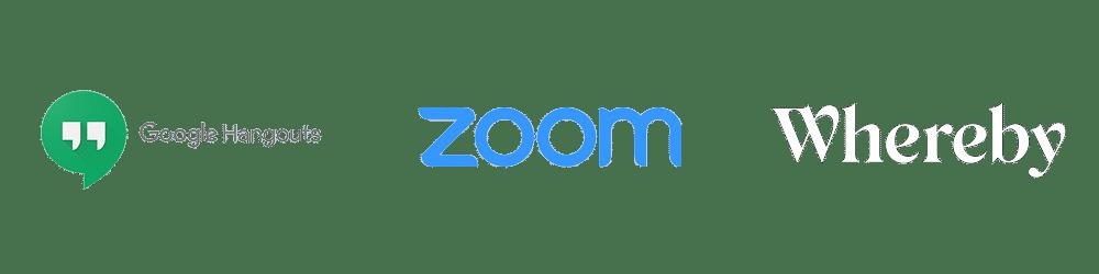 Narzedzia do komunikacji hangouts zoom whereby