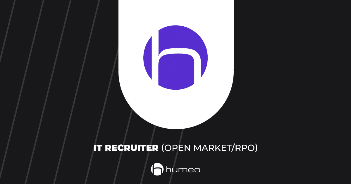 IT Recruiter open market RPO oferty pracy IT - Humeo